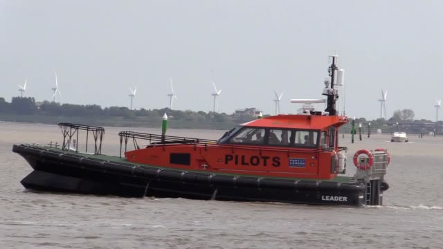 engineers claim to have built the uk's first hybrid pilot boat to cut pollution on the river thames it was commissioned by the port of london... - cut video transition stock videos and b-roll footage