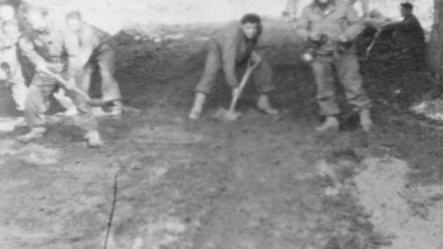 Engineers Clearing a Roadway near the Seigfried Line / Convoy POV in Germany / Engineers Clearing Road WWII on September 01 1944 in Germany