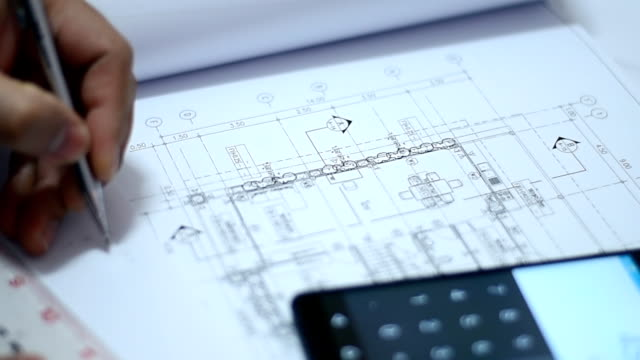 ingegneri progettazione case - misurare video stock e b–roll
