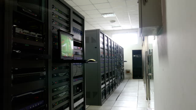 engineer's inspection equipment in tv broadcasting and control computer room - rack stock videos & royalty-free footage