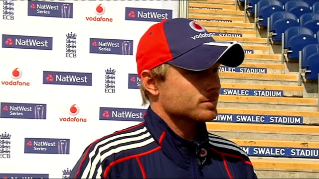 england and south africa cricketers prepare for one day international in cardiff wales cardiff swalec stadium ext ian bell along with unidentified... - warwickshire stock videos & royalty-free footage