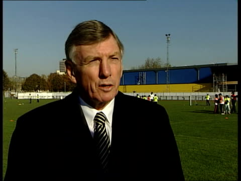 england bid to host world cup 2018; england: london: mile end stadium: ext martin peters interview sot - nowadays in japan they were fine / no... - the world's end stock videos & royalty-free footage