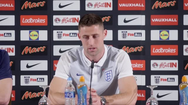 England coach Gareth Southgate and defender Gary Cahill speak ahead of the match against Germany They talk about preparation player availability...