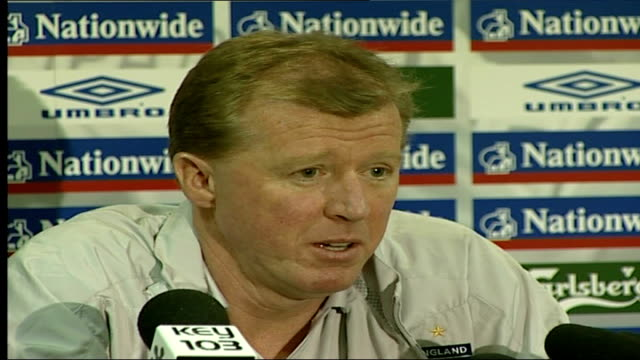 england coach steve mcclaren press conference england manchester int steve mcclaren press conference sot as i said before before our first game... - 2 5 months stock videos & royalty-free footage