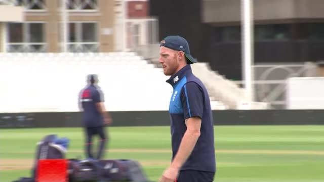 england coach trevor baylis calls on ben stokes to make public apology uk nottinghamshire trent bridge ben stokes at training session with england... - nottinghamshire stock videos & royalty-free footage