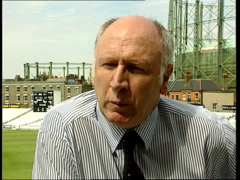 england cricket crisis itn mike edwards interviewed sot they're payed good wages have sponsored cars they play in front of nobody / pleasant... - channel 4 news stock-videos und b-roll-filmmaterial