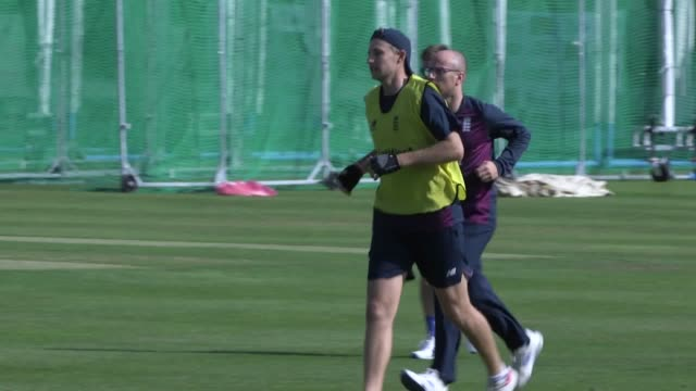 england cricket team train at lords ahead of their second ashes test against australia the second test begins on august 14 - practising stock videos & royalty-free footage