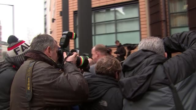 England cricketer Ben Stokes appears in court on charges of affray ENGLAND Bristol PHOTOGRAPHY*** Ben Stokes away from court through press scrum to...