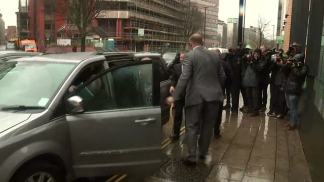 England cricketer Ben Stokes court case on charges of affray Stokes' arrival at court ENGLAND Bristol PHOTOGRAPHY*** Ben Stokes from car and through...
