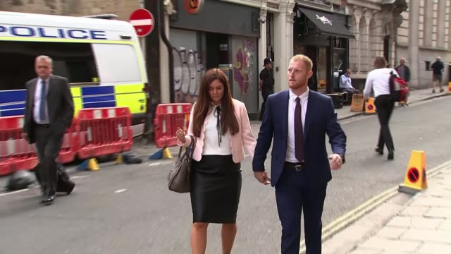 England cricketer Ben Stokes found not guilty of affray ENGLAND Bristol Bristol Crown Court EXT Ben Stokes arriving at court with his wife Clare...