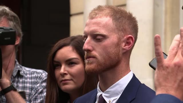 England cricketer Ben Stokes found not guilty of affray UK Bristol Ben Stokes from court with is wife Clare Ratcliffe after being cleared of affray...