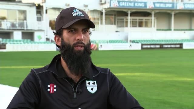 england cricketer moeen ali describes racism he has experienced in the sport england worcestershire worcester new road moeen ali interview sot - ラゲ オマール点の映像素材/bロール