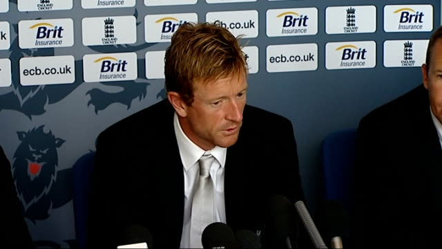 England cricketers press conference after winning Twenty20 championship Paul Collingwood SOT absolutely / the feeling in the dressing room / realised...