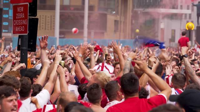 GBR: Fans in London watch the UEFA Euro 2020 Championship Final match between England and Italy.