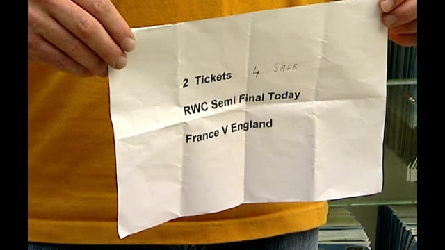 england fans travel to paris for semifinal england london waterloo international station int tickets for rugby union world cup semifinals people show... - point of sale stock videos and b-roll footage