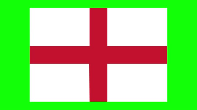 england flag animation on green screen background, chroma key, loopable - politics icon stock videos & royalty-free footage