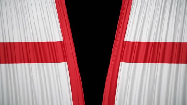 england flag curtain cloth - politics illustration stock videos & royalty-free footage