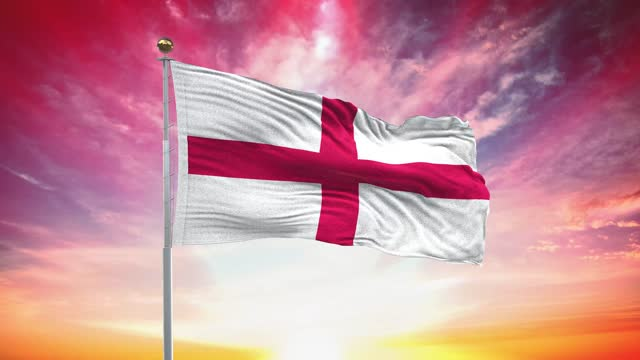 england flag, loopable, included green screen chroma key version, waving in wind slow motion animation, 4k realistic fabric texture, continuous seamless loop background - identity politics stock videos & royalty-free footage