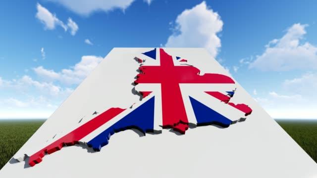 england flag on map background - politics illustration stock videos & royalty-free footage