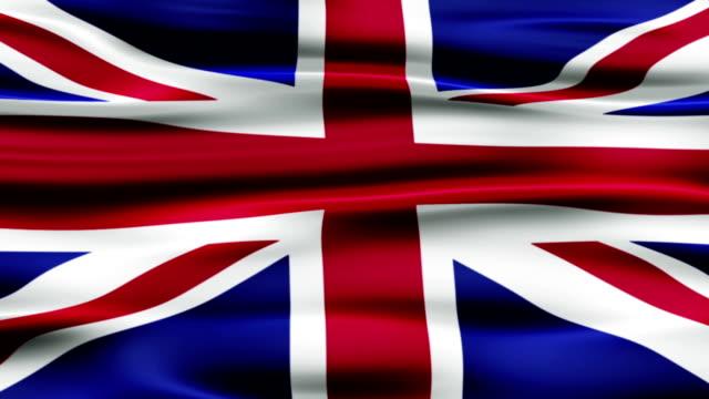 bandiera dell'inghilterra - bandiera inglese video stock e b–roll