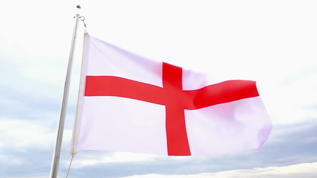 england flag - royalty stock videos and b-roll footage