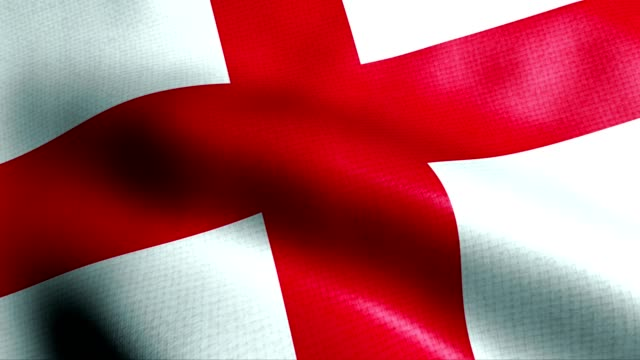 england flag - bandiera inglese video stock e b–roll