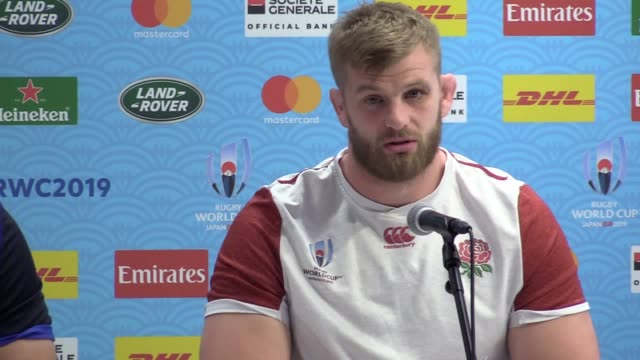 england flanker sam underhill jokes that he is still waiting on his personal message from the royal family after revealing the duke of sussex and... - 幸運点の映像素材/bロール