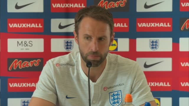 gareth southgate and jesse lingard press conference ahead of the world cup 2018 england hertfordshire grove hotel int gareth southgate and jesse... - body adornment stock videos and b-roll footage