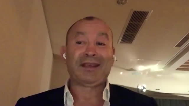 """england head coach eddie jones saying under-12 rugby players need to be taught to tackle underneath the hips so they learn """"safe tackle technique"""" - torso stock videos & royalty-free footage"""