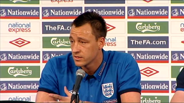 England John Terry press conference John Terry press conference SOT About respect for Capello and inspiration It's encouraging when he shows passion...