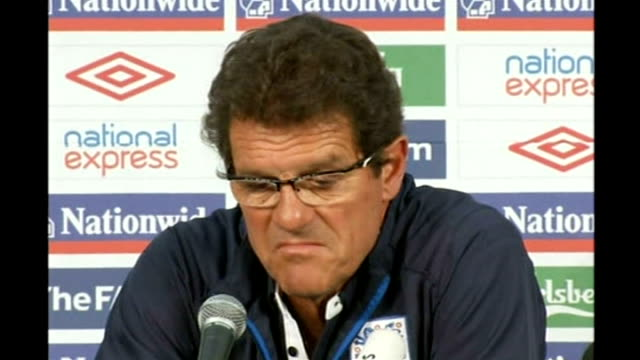 england knocked out: fabio capello press conference; fabio capello press conference continues sot - [on whether he is still worth the money] when... - out of context stock videos & royalty-free footage