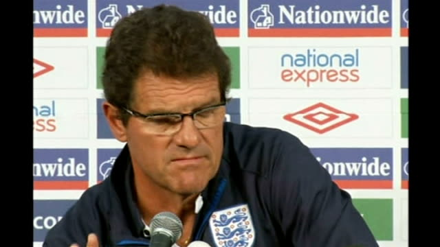 england knocked out fabio capello press conference fabio capello press conference continues sot [on whether the players let him down or whether he... - number 3 stock videos & royalty-free footage