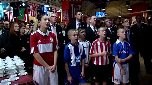 england loses 2018 world cup bid; t02121029 tyneside: sunderland: int ** beware flash photography ** niall quinn mouthing 'hard luck' as standing... - bid stock videos & royalty-free footage