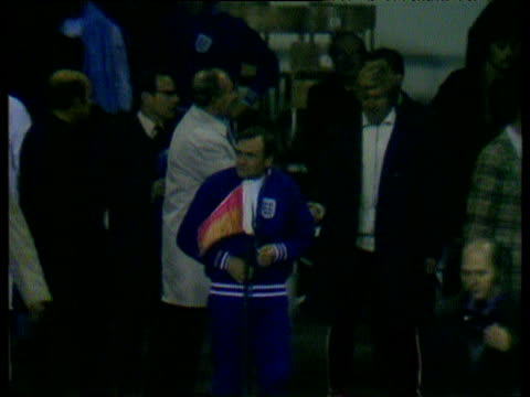 england manager alf ramsey congratulates poland manager kazimierz grski after 11 draw which effectively prevents england from qualifying for 1974... - poland stock videos & royalty-free footage