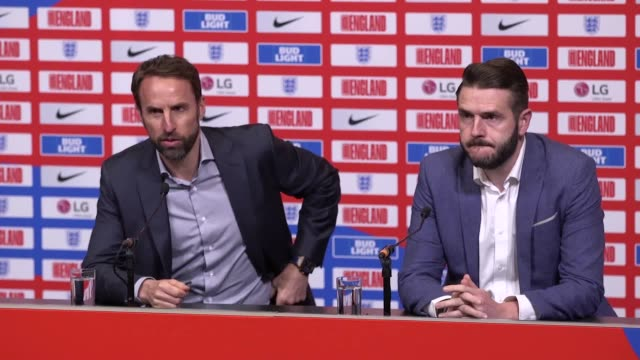 England manager Gareth Southgate hails a exciting two weeks in English football as he gives a squad announcement for the Nations League