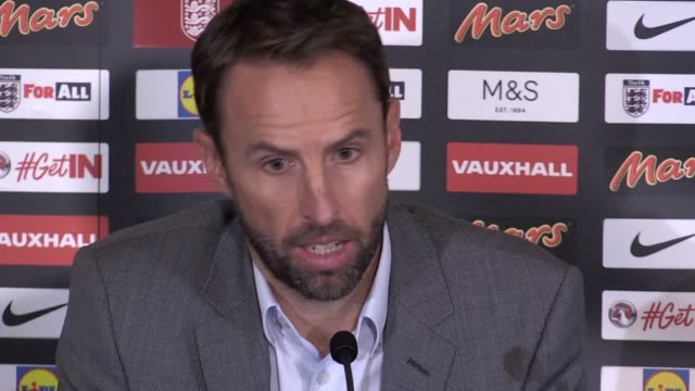 England manager Gareth Southgate holds a media conference to announce his squad for the upcoming fixtures against Malta and Slovakia