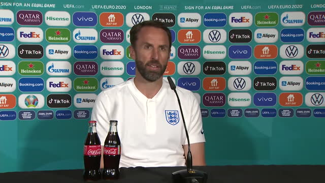england manager gareth southgate saying he doesn't understand how scotland's players don't have to self-isolate after billy gilmour tested positive... - sharing stock videos & royalty-free footage
