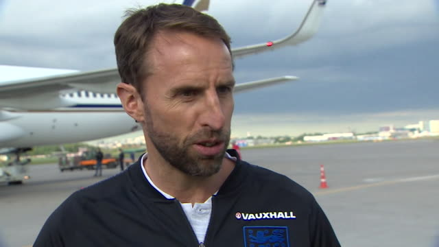 england manager gareth southgate saying there is a humility about the team and the players are eager to represent their country in the biggest... - humility stock videos and b-roll footage