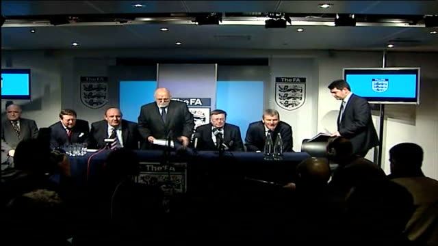 england manager steve mcclaren sacked after failure to qualify for euro 2008 london photography *** football association officials sitting down at... - soccer association stock videos & royalty-free footage