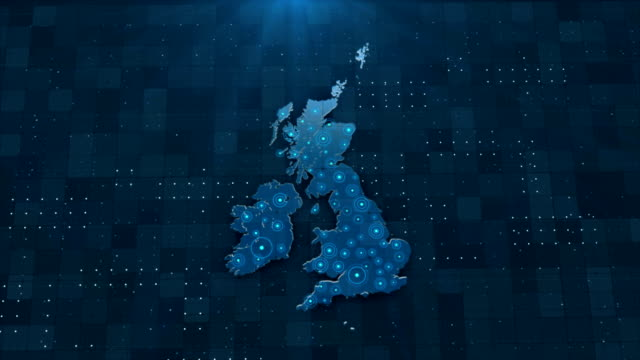 4k england map links 4k with full background details - uk video stock e b–roll