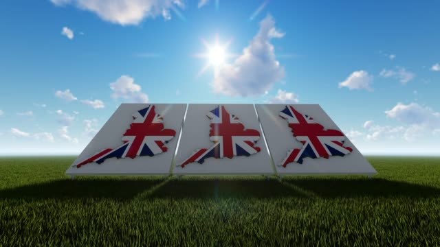 england maps with flags 3d concept - politics illustration stock videos & royalty-free footage