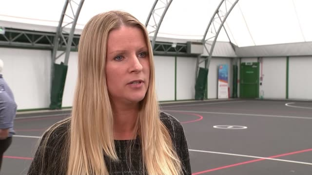 England netball team win gold / highlights of the day Women playing netball Fran Connolly interview SOT **Connolly interview partly overlaid SOT**...