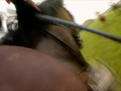 CANTED, POV, England, Newbury, Jockey riding horse in horseracing