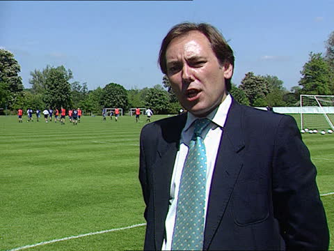 england players jet vandalism aftermath; a) england: berkshire: bisham abbey: ext lms england players training on pitch around lms england manager... - mischief stock videos & royalty-free footage