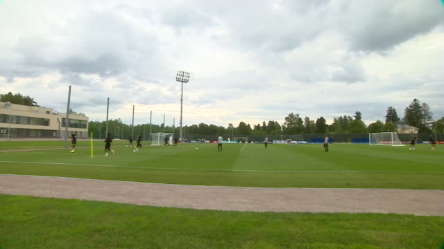 England players training at their base in Repino Russia