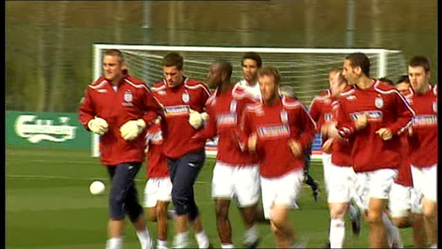 Players training ENGLAND Hertfordshire London Colney EXT England squad training ahead of matches against Slovakia and Ukraine including Rio Ferdinand...