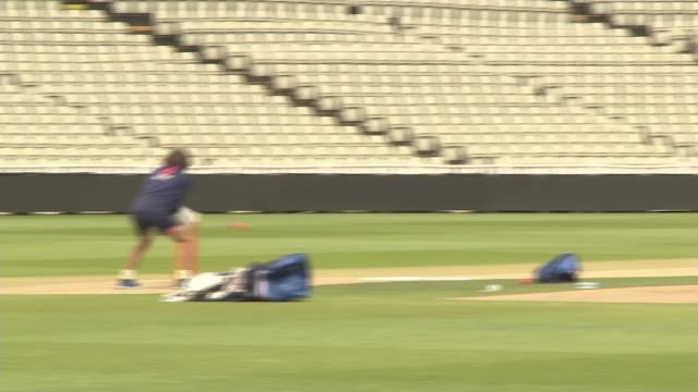 england prepare for first daynight test match against the west indies birmingham edgbaston cricket ground wide shot of moeen ali bowling during... - international match stock videos & royalty-free footage