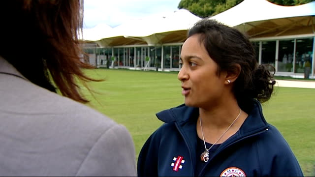 england prepare for test series against india raveena lakhtaria interview sot was nervous / he was giving advice on injured finger shots of raveena... - channel 4 news stock videos & royalty-free footage