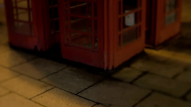 england red phonebooth at night - booth stock videos & royalty-free footage