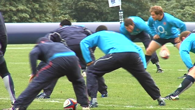 england rugby squad training various of england rugby squad training - national team stock videos & royalty-free footage